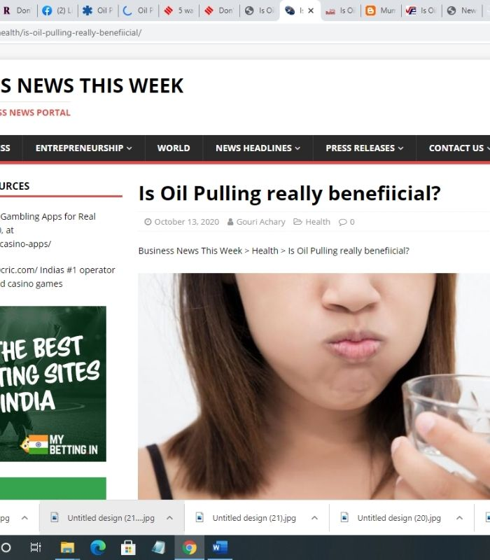 Is Oil Pulling really beneficial?