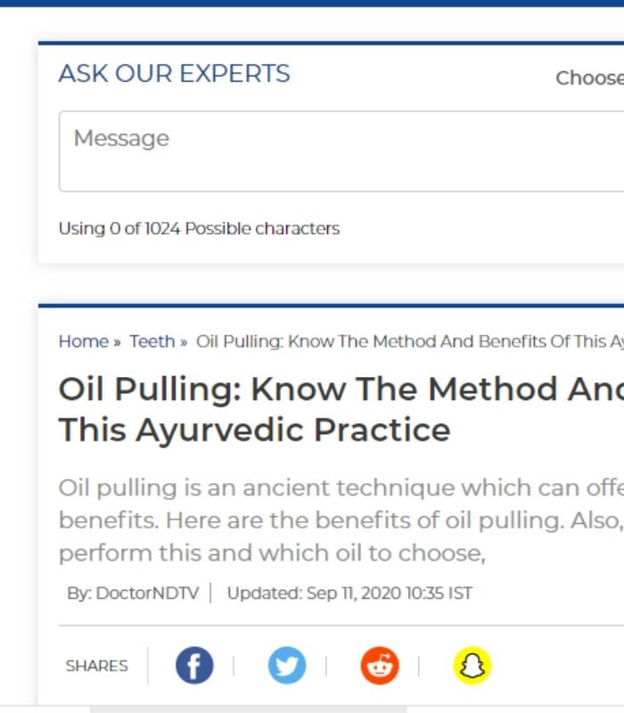 Oil Pulling: Know The Method And Benefits Of This Ayurvedic Practice.